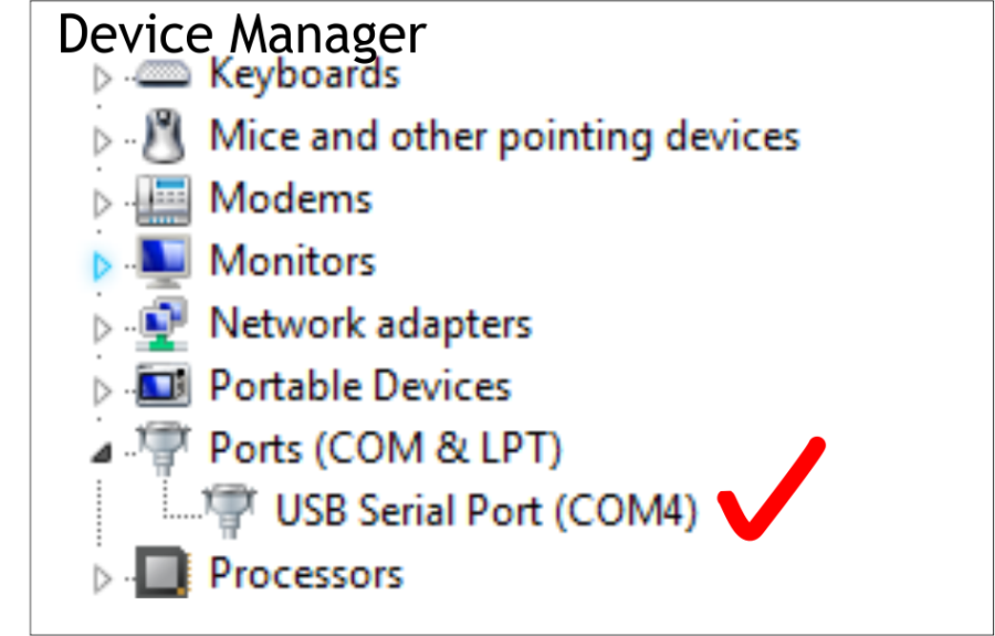 USB to Serial Connection