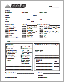 Repair Authorization Checklist